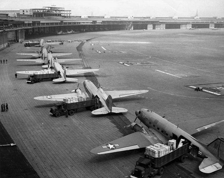 C47s at Templehof Airlift for Berlin Airlift