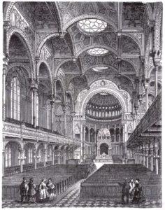 Inside Berlin's Neue Synagoge, 1866