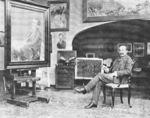 Max Liebermann in his Berlin studio