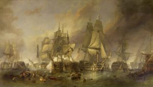 The Battle of Trafalgar by William Clarkson