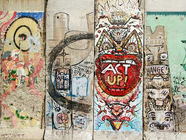 Pieces of the Berlin Wall in Arlington, Virginia