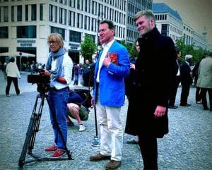 Berlin Experiences - Matt With The BBC Crew And Michael Portillo