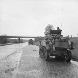 3rd Royal Tank Regiment On An Autobahn, Lubeck 1945 - Present at the British Victory Parade