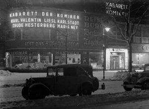 Kabarett der Komiker on Kurfürstendamm - where the afterparty of the British Victory Parade would take place