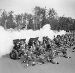 British Victory Parade Gun Salute