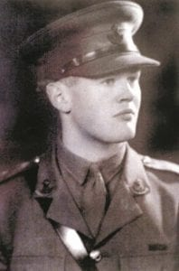 Second Lieutenant Richard Annand of the 2nd Durham Light Infantry