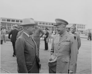 President Truman with General Dwight Eisenhower