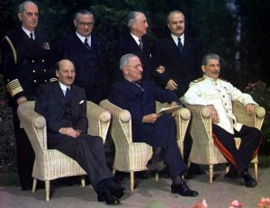 Attlee, Truman, Stalin at the Potsdam Conference