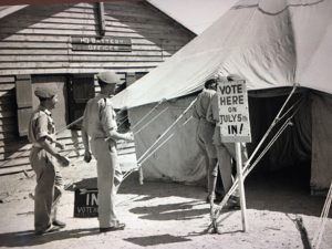 British Troops voting in 1945