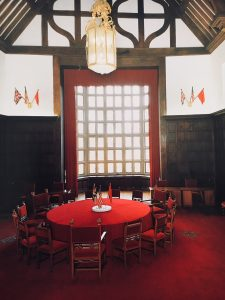 Inside Potsdam Cecilienhof - the Potsdam Conference room