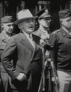 Harry Truman gives a speech