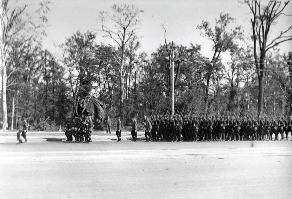 Passage of the combined regiment of the 248th Infantry Division of the Red Army.
