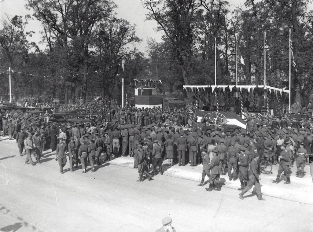 Tribune for guests of honour for the Allied Victory Parade