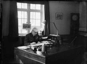 Arthur 'Bomber' Harris at his desk