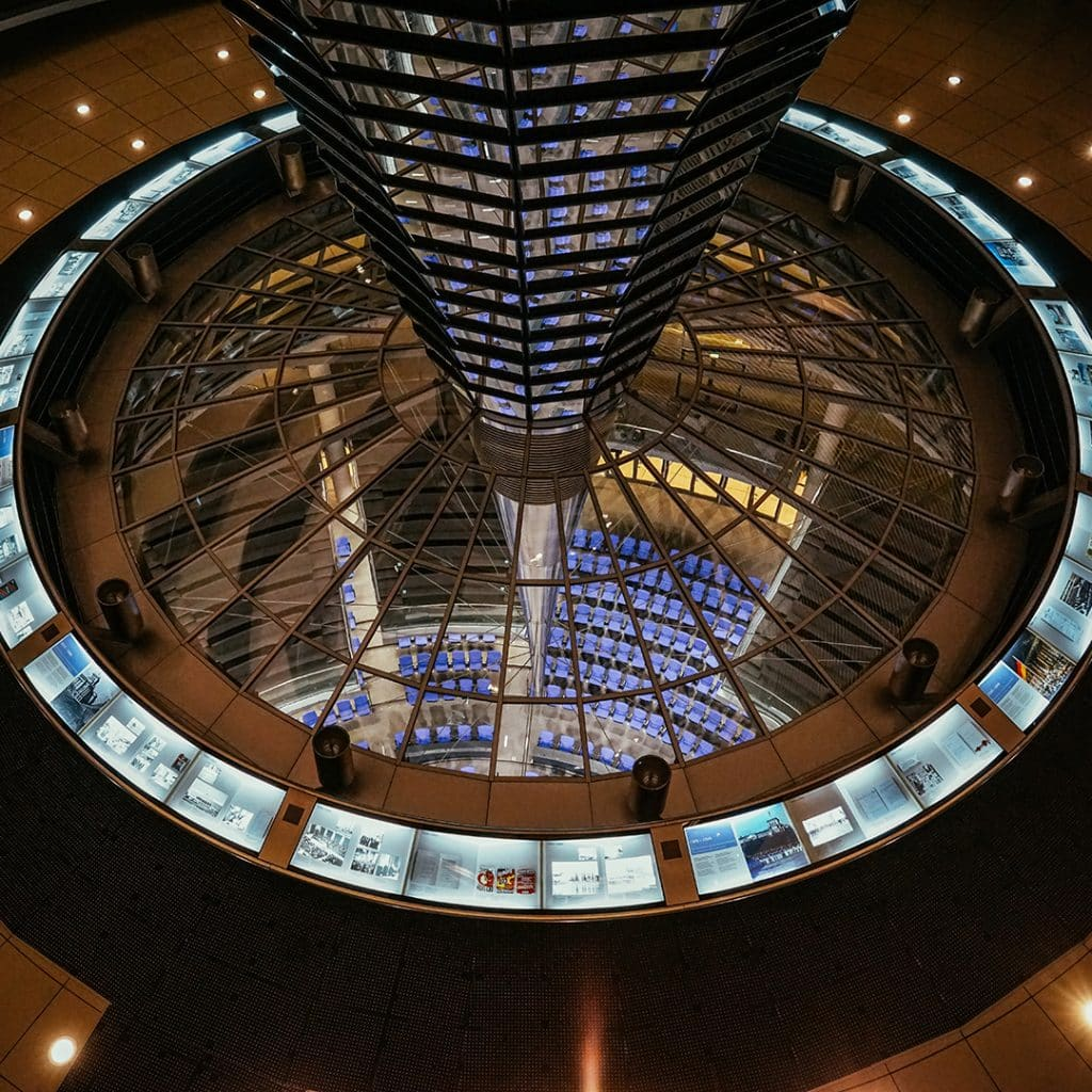 The Bundestag View From The Reichstag Cupola