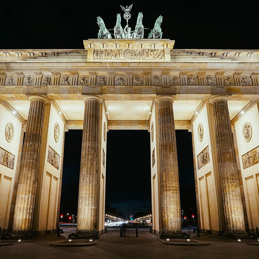 Berlin Experiences - The Brandenburg Gate In Berlin At Night