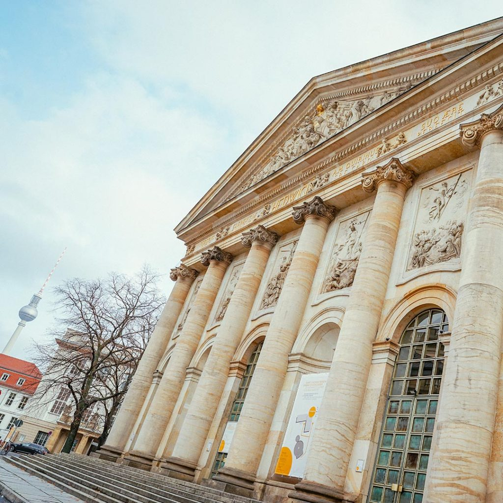 St Hedwigs Cathedral In Berlin - a sign of the enlightened approach of the Forum Fridericianum