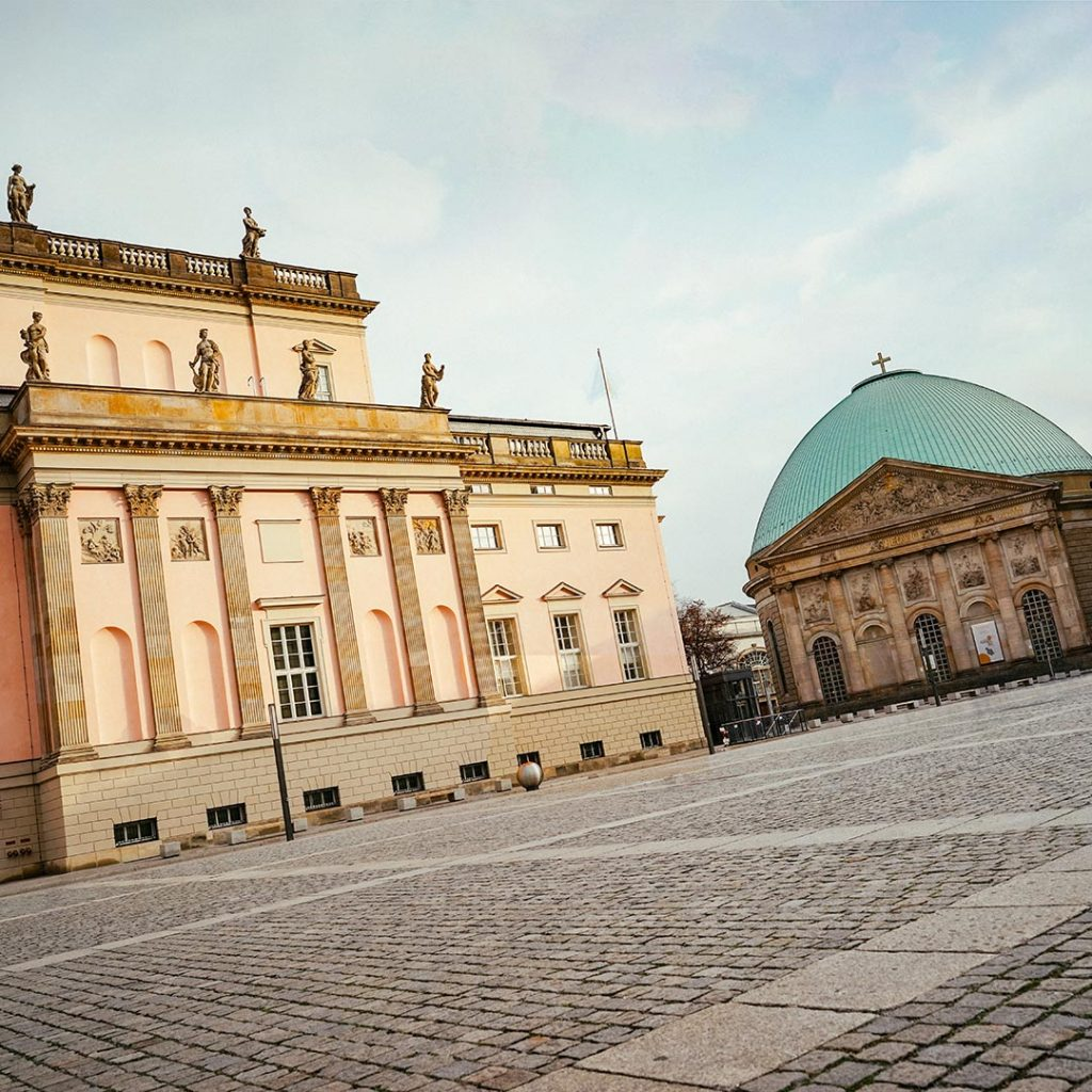 The State Opera and St Hedwigs Cathedral In Berlin