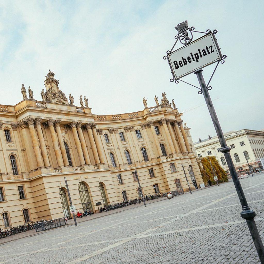 Bebelplatz In Central Berlin - The Nazi Book Burning Square - the Forum Fridericianum