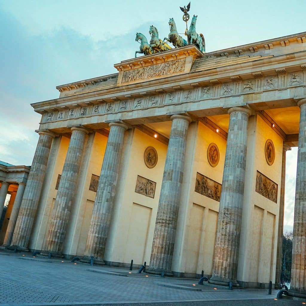 The Brandenburg Gate Without People