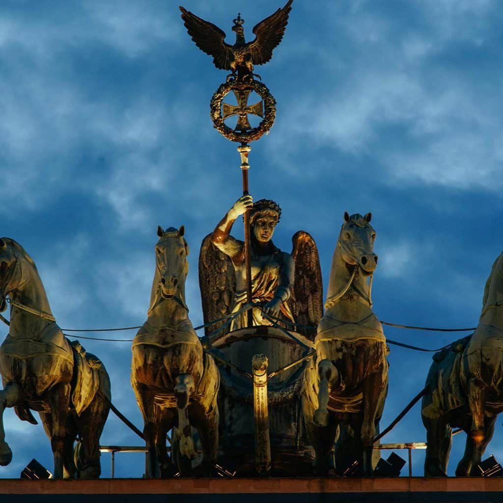 The Quadriga Statue On The Brandenburg Gate