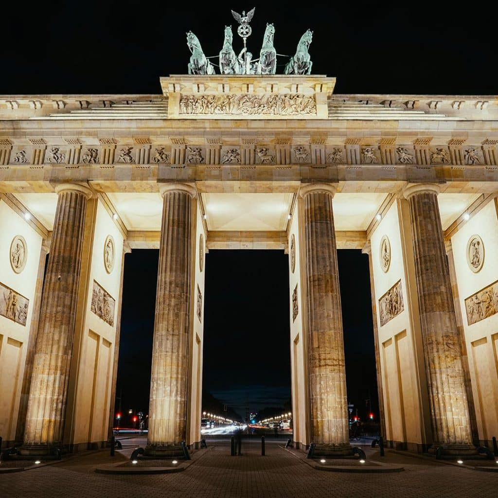 The Brandenberg Gate At Night