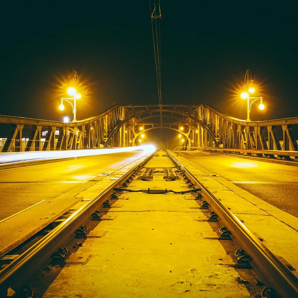 The Bornholmerstrasse Bösebrücke At Night