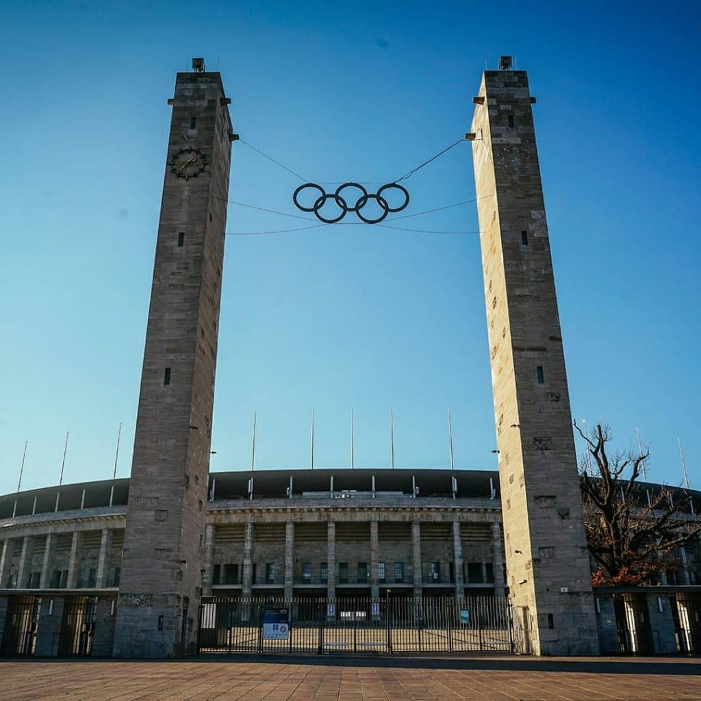 The Entrance To The Olympic Stadium In West Berlin