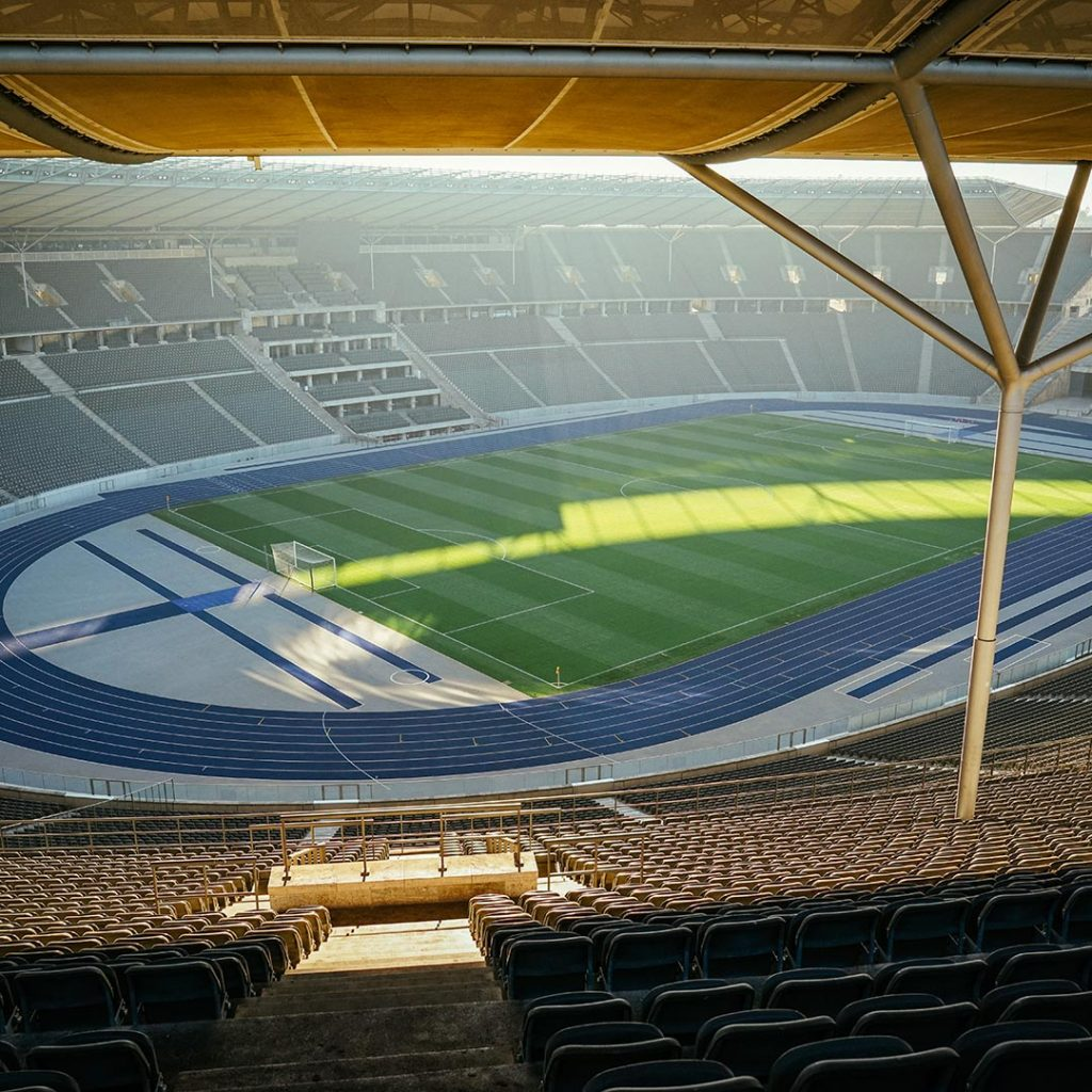 Inside The Olympic Stadium In West Berlin