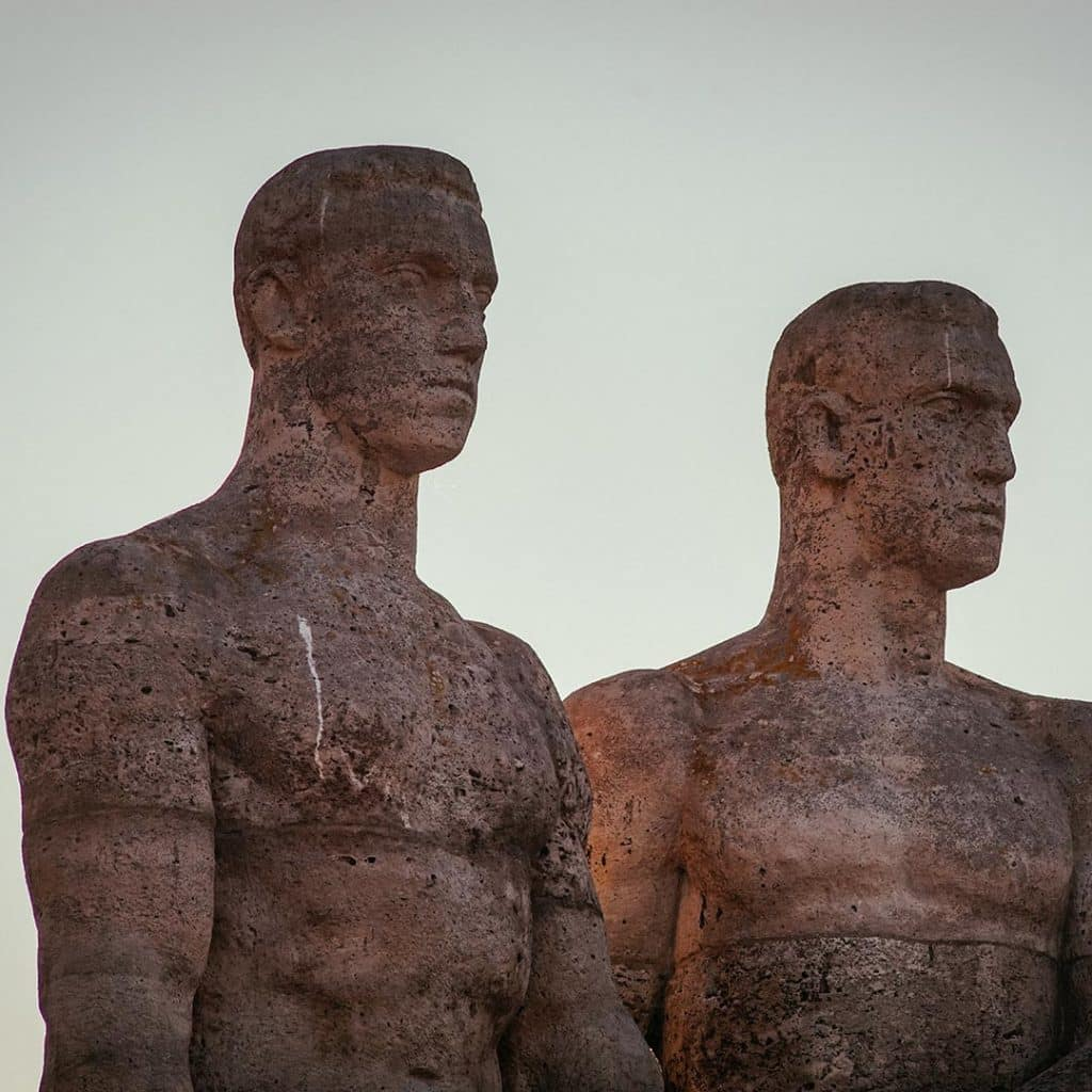 Statues At The Olympic Stadium in Berlin