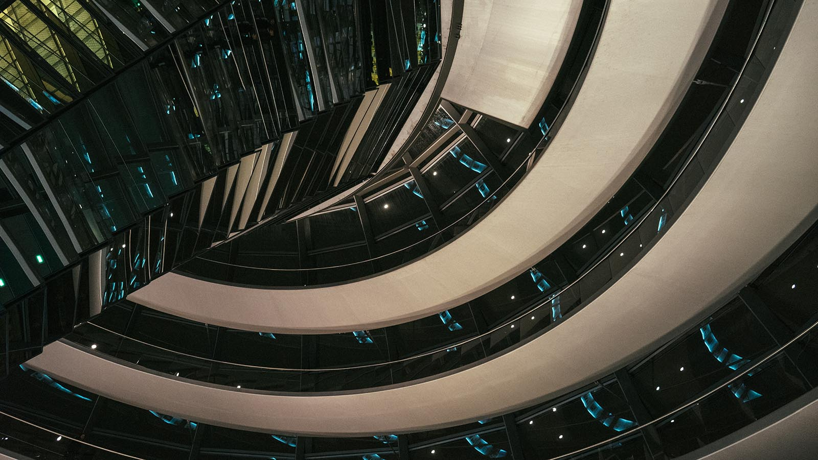 Inside The Reichstag Building At Night