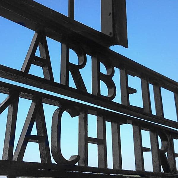 Sachsenhausen Memorial Tour -Arbeit Macht Frei Lettering