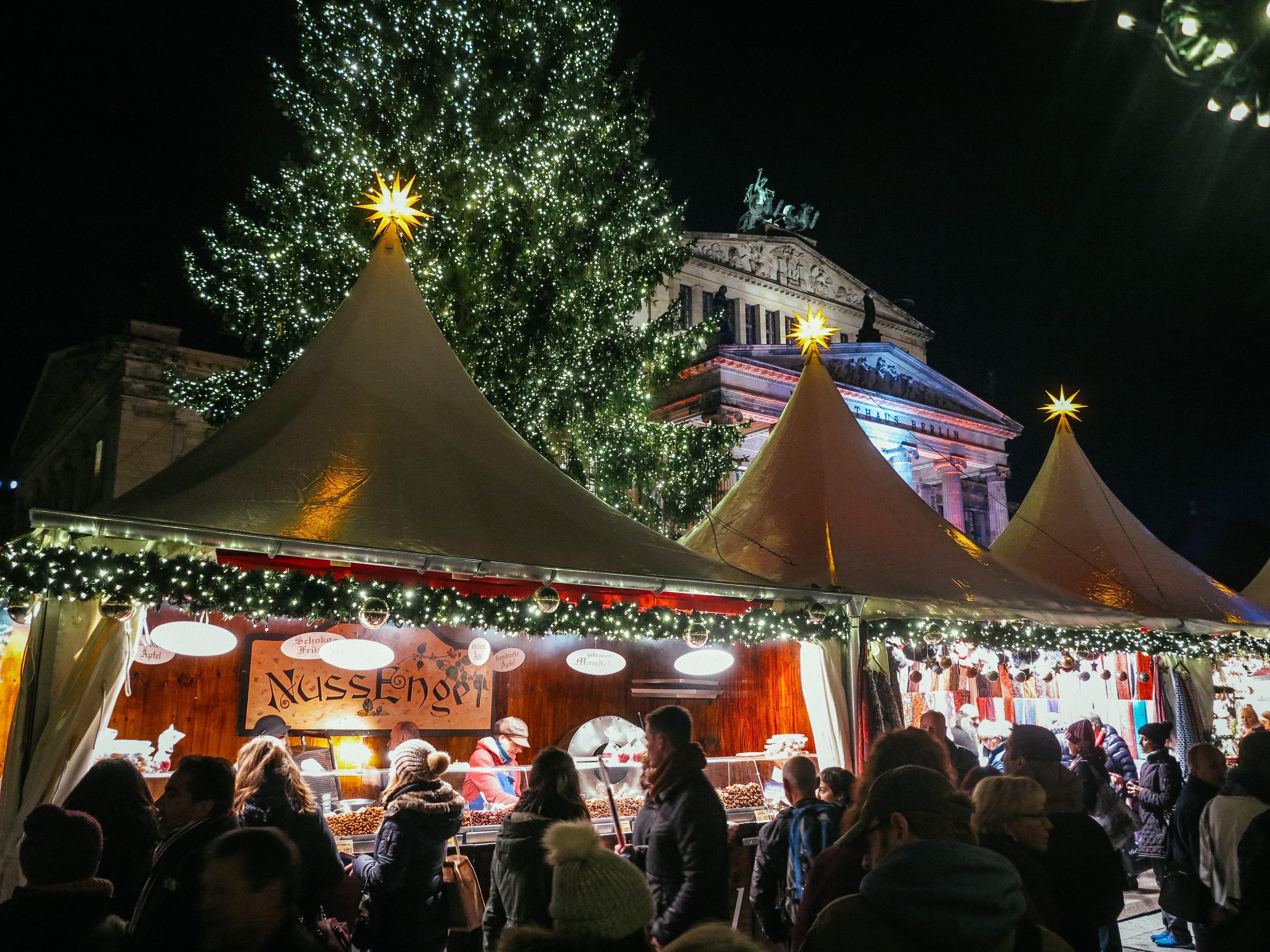Christmas Market In Berlin Gendarmenmarkt