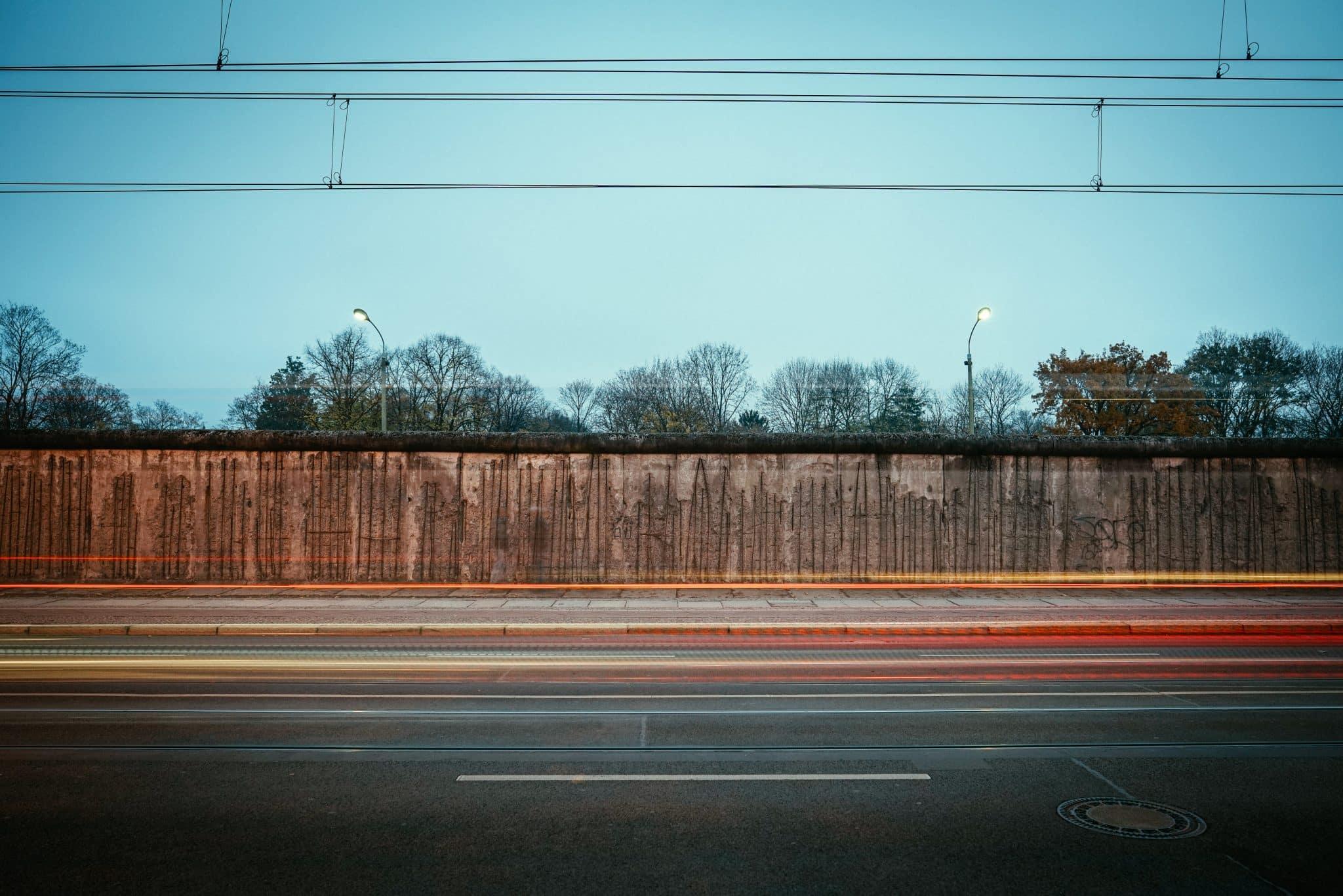 The Berlin Wall At Night