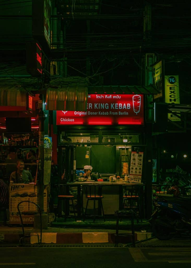 Döner Kebab Stand In Thailand