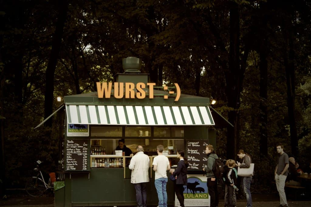 A Currywurst Stall Berlin