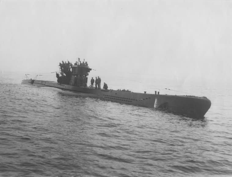 U-977 - one of two German U Boats to arrive off the coast of Argentina in 1945