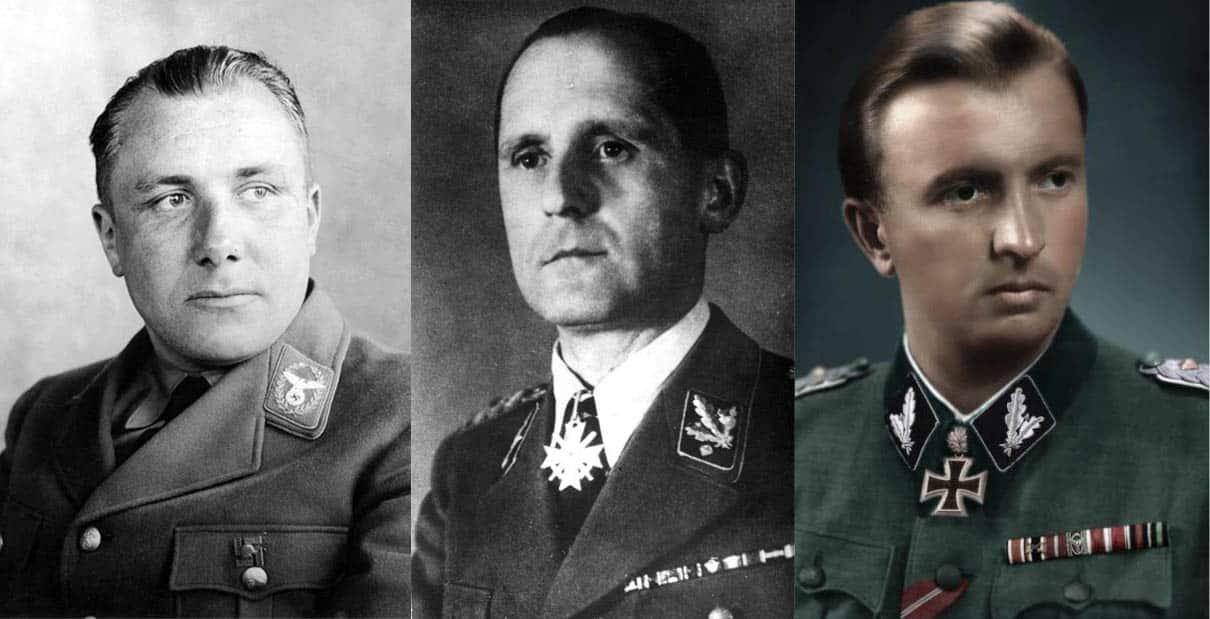 Martin Bormann, Heinrich Müller, Hermann Fegelein