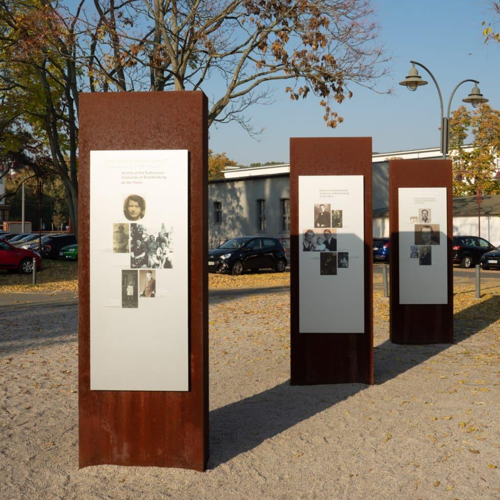 Outside the Brandenburg T4 Memorial