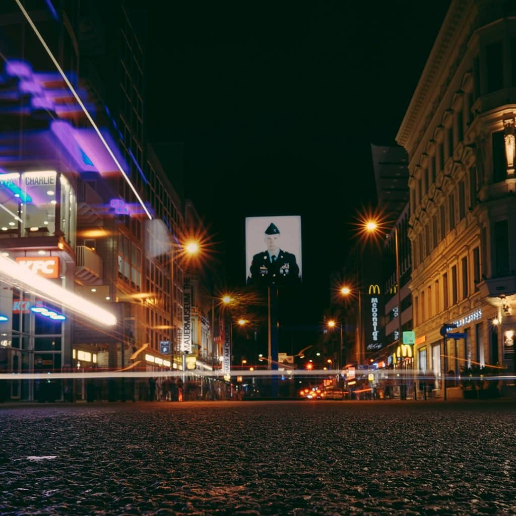 Checkpoint Charlie at Night
