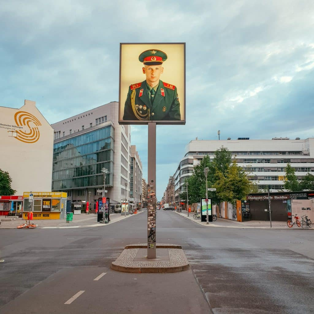 Soviet Soldier at Checkpoint Charlie