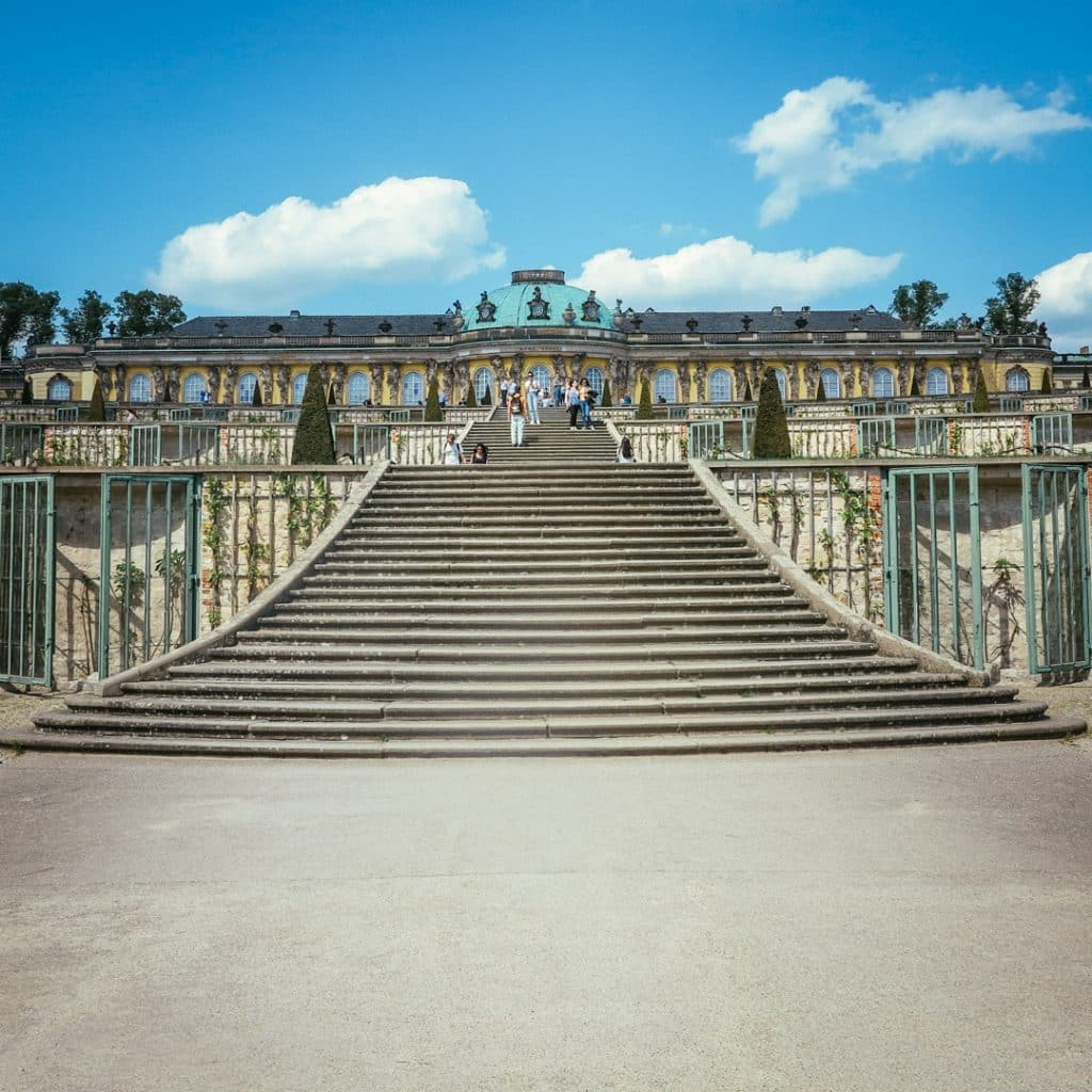 Steps outside Potsdam Sanssouci