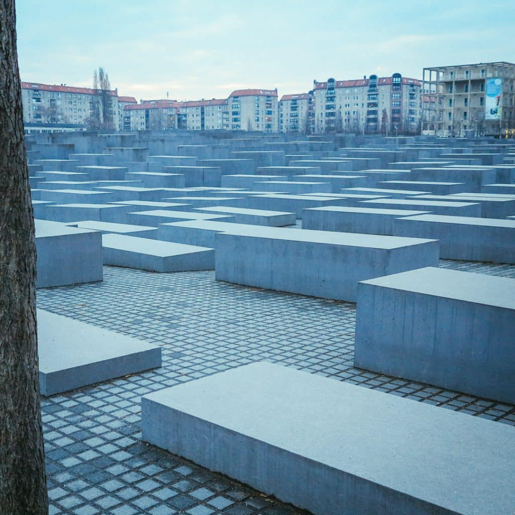 Berlin's Holocaust Memorial from the North Side
