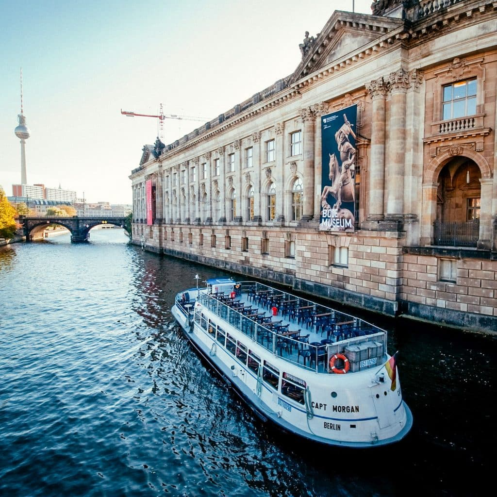 Bode Museum and the River Spree with a view of the TV Tower