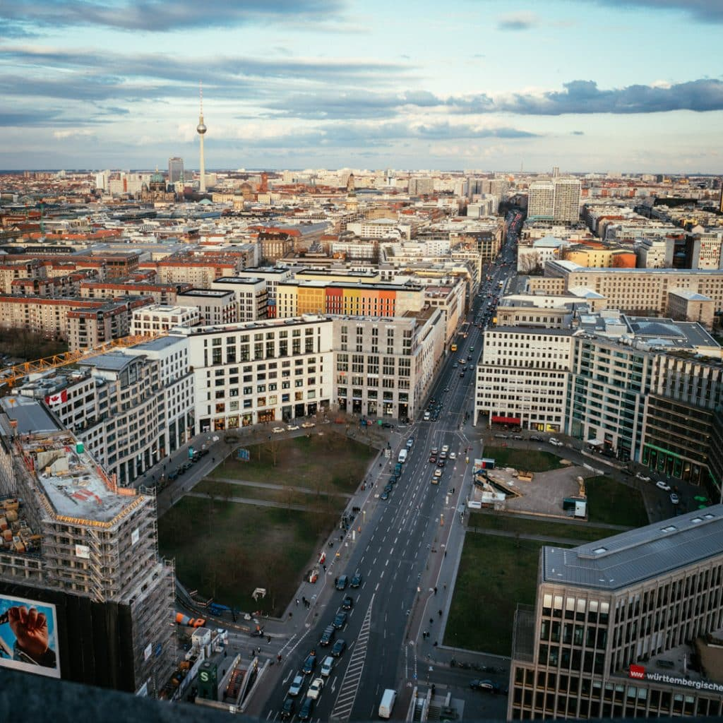 View from the Panorama Punkt of Leipziger Platz - the fastest elevator in Europe