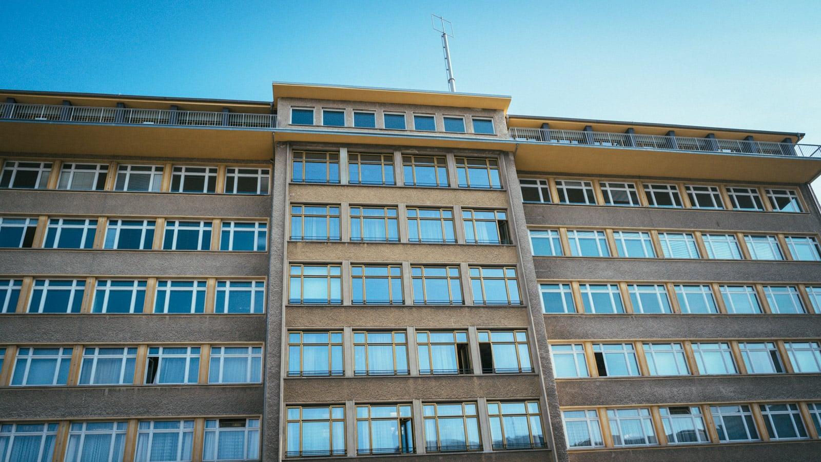 Exterior of the Stasi Museum in Berlin