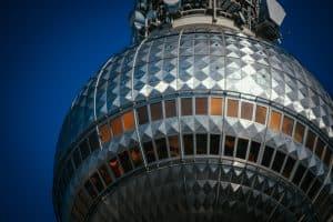 Closeup of the Berlin TV Tower - Fernsehturm