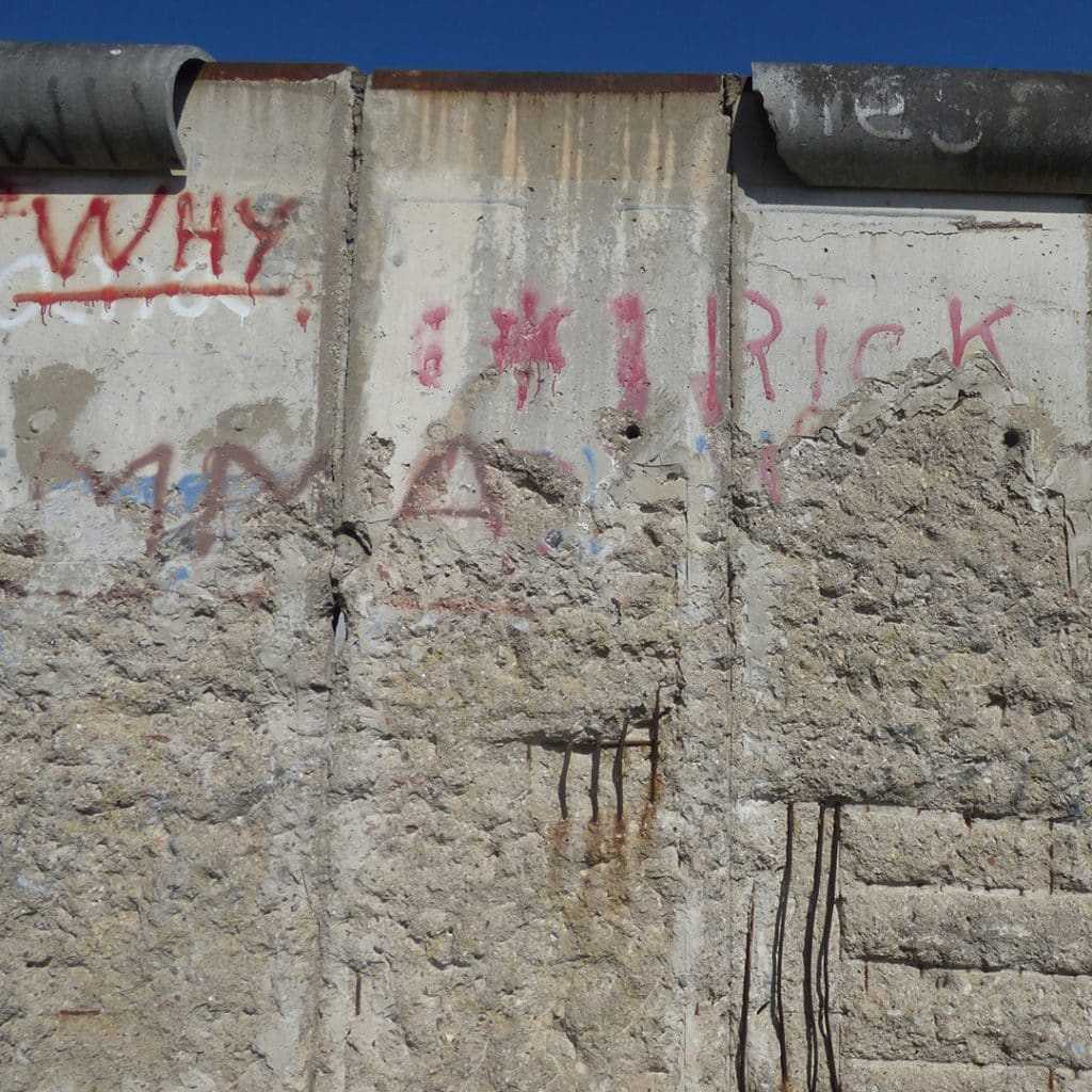 Berlin Wall section at the Topography of Terror
