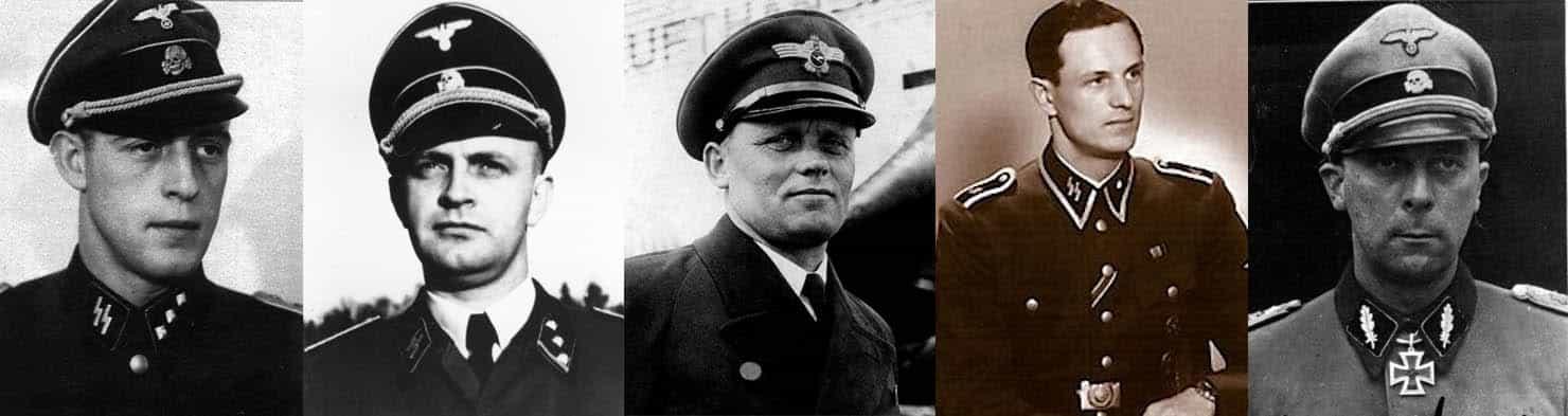 Hitler's bodyguard, Otto Günsche - Hitler's valet, Heinz Linge - Hitler's pilot, Hans Baur - Führerbunker telephone operator, Rochus Misch - SS Generalmajor, Wilhelm Mohnke