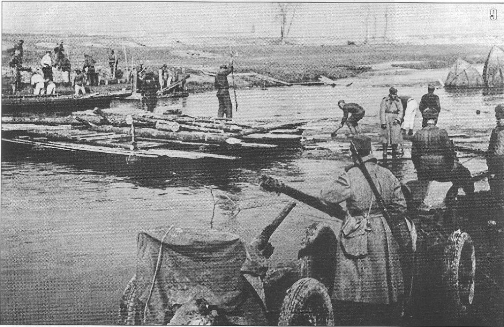Troops of the 1st Ukranian cross the river Neisse